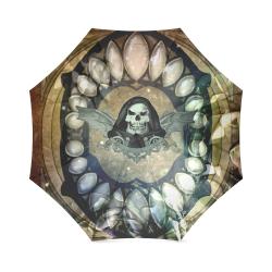 Awesome scary skull Foldable Umbrella (Model U01)