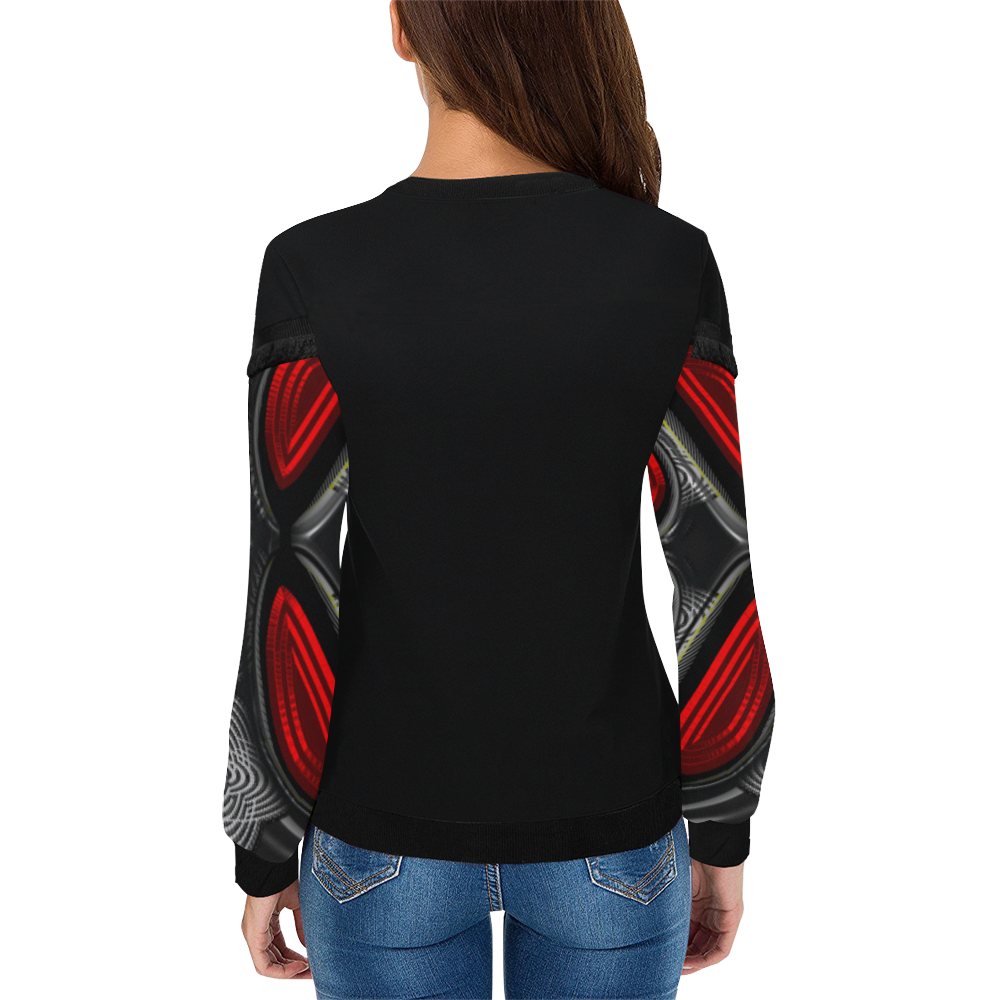 abstract_5500_2019_RBW_93h Women's Fringe Detail Sweatshirt (Model H28)