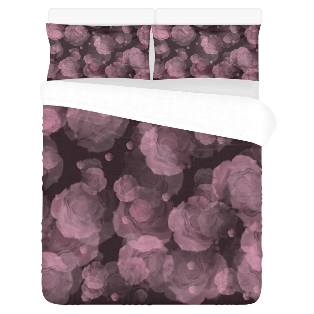 Viola Red Baroosa 3-Piece Bedding Set