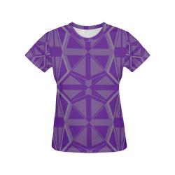 geometric fantasy All Over Print T-Shirt for Women (USA Size) (Model T40)