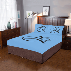 Alphabet Zz - SkyBlue 3-Piece Bedding Set