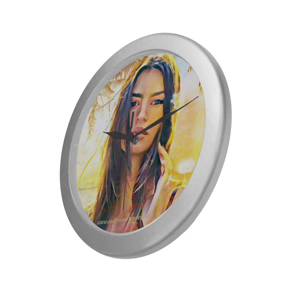 Emily Silver Color Wall Clock