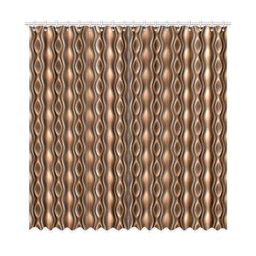 """Brown leather abstract wave Window Curtain 52""""x108""""(Two Piece)"""