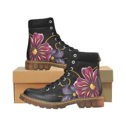 Boho Flowers Apache Round Toe Women's Winter Boots (Model 1402)