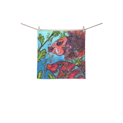 """Bette and Joan square towel Square Towel 13""""x13"""""""