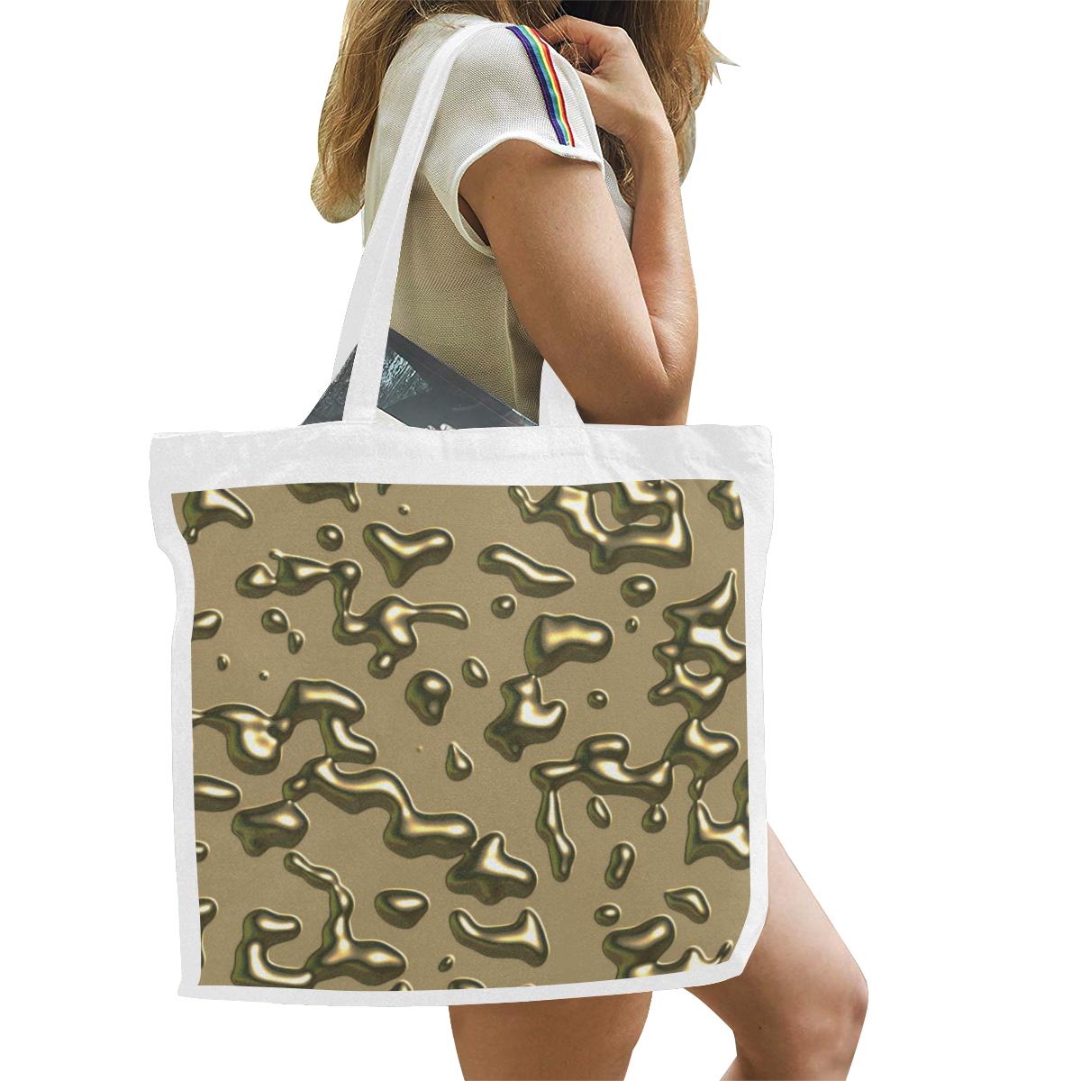 gold drops Canvas Tote Bag/Large (Model 1702)