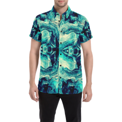 Marmor Pattern by K.Merske Men's All Over Print Short Sleeve Shirt (Model T53)