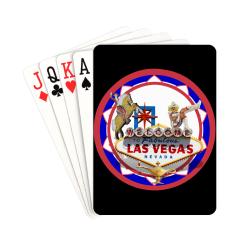 "LasVegasIcons Poker Chip - Vegas Sign on Black Playing Cards 2.5""x3.5"""