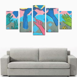 Fiesta PAINTING Canvas Print Sets D (No Frame)