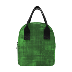 Green Grunge Zipper Lunch Bag (Model 1689)