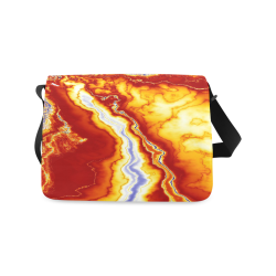 Marble Geode Messenger Bag (Model 1628)