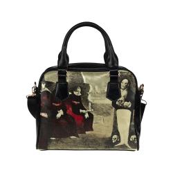 Gothic Death Darkstar Shoulder Handbag (Model 1634)