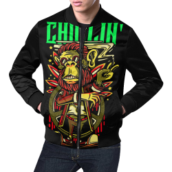 chaqueta de hombre diseño chillin All Over Print Bomber Jacket for Men (Model H19)