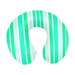 Summer Greens Stripes U-Shape Travel Pillow