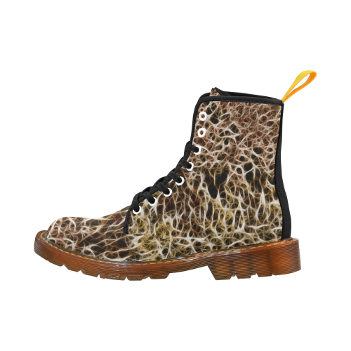Misty Fur Coral by Jera Nour Martin Boots For Women Model 1203H
