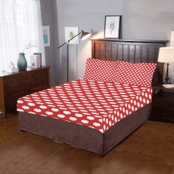 Clouds with Polka Dots on Red 3-Piece Bedding Set