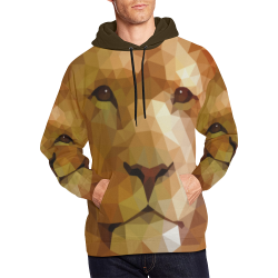 Polymetric Lion All Over Print Hoodie for Men (USA Size) (Model H13)