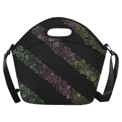 Psychedelic 3D Rainbow Ornaments Neoprene Lunch Bag/Large (Model 1669)