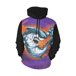 Graffiti Shark (Vest Style) All Over Print Hoodie for Men (USA Size) (Model H13)