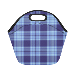 STRIPES LIGHT BLUE Neoprene Lunch Bag/Small (Model 1669)