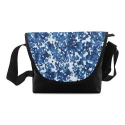 Digital Blue Camouflage Crossbody Bag (Model 1631)