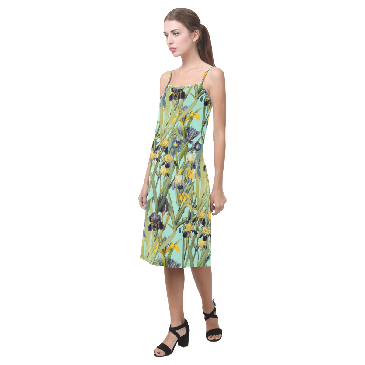 Irises Alcestis Slip Dress (Model D05)