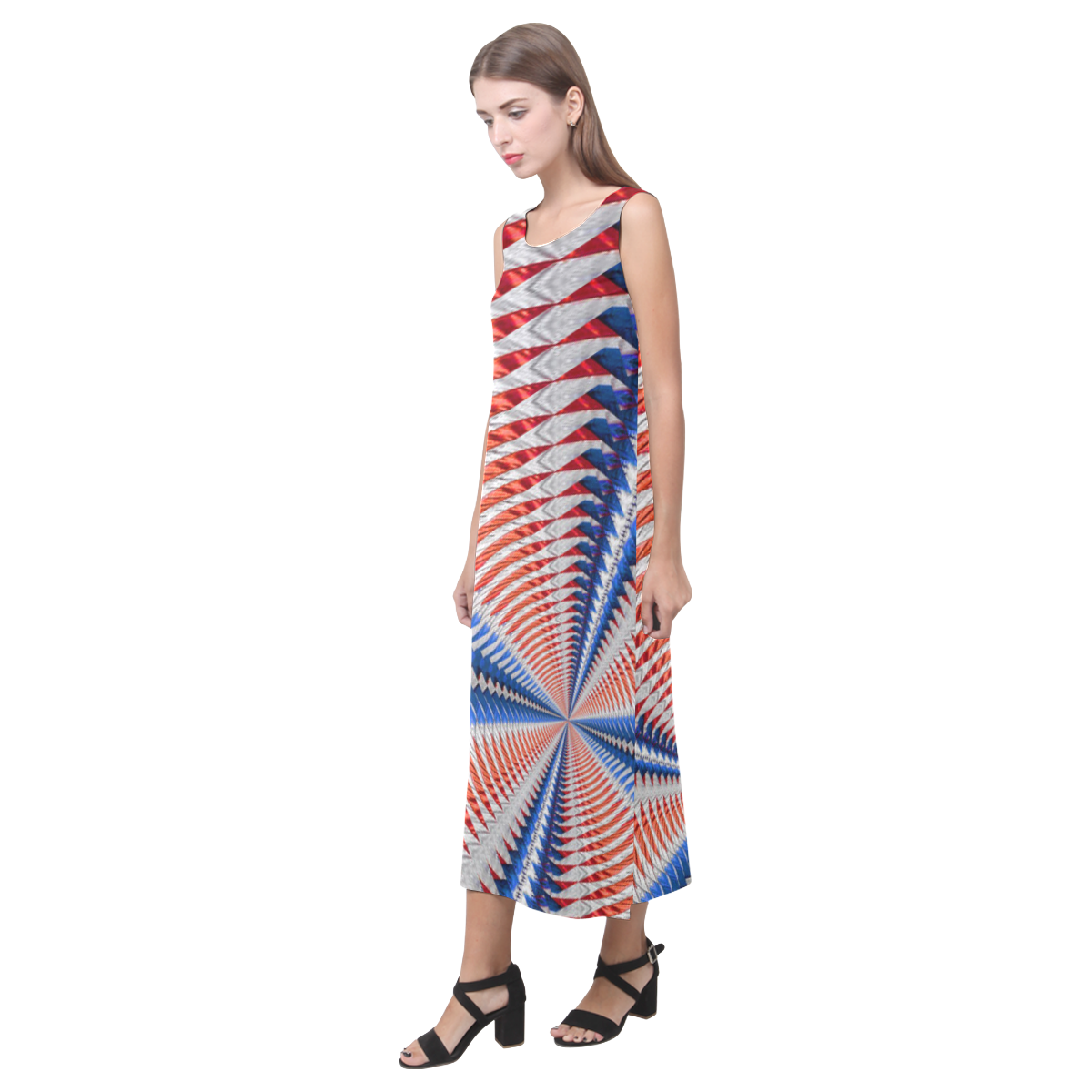 HOO Phaedra Sleeveless Open Fork Long Dress (Model D08)