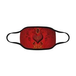 Valentine's day, wonderful heart Mouth Mask