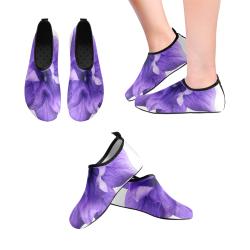 Balloon Flower Men's Slip-On Water Shoes (Model 056)