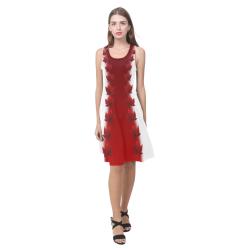 Canada Maple Leaf Dresses Sleeveless Atalanta Casual Sundress(Model D04)