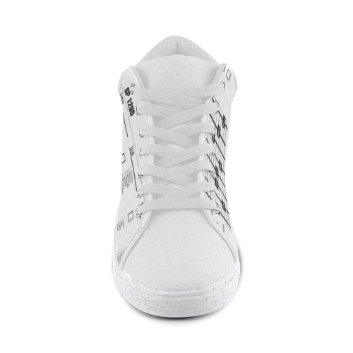 The White SP 1200  Hightop Chukkas Men's Chukka Canvas Shoes (Model 003)