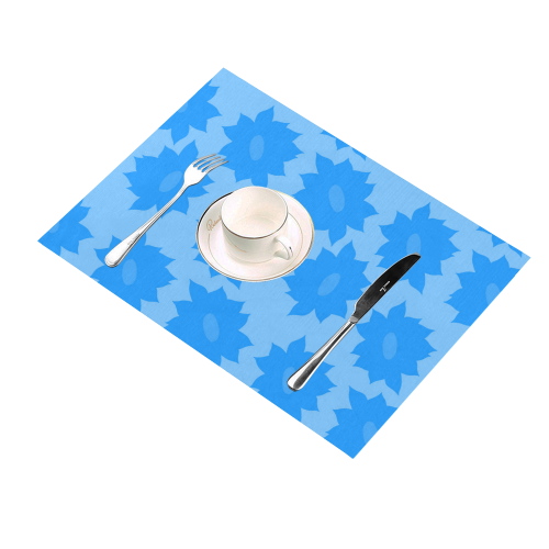 Fantasy flowers Placemat 14'' x 19'' (Two Pieces)