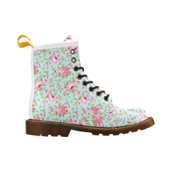 Peony Pattern High Grade PU Leather Martin Boots For Men Model 402H