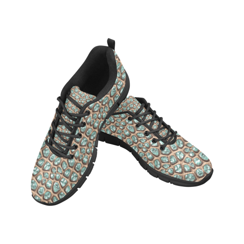 Green crystals Women's Breathable Running Shoes/Large (Model 055)