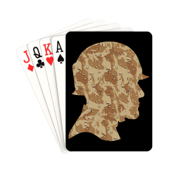 """Desert Camouflage Soldier on Black Playing Cards 2.5""""x3.5"""""""