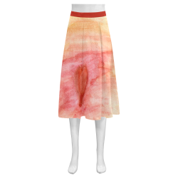 Radiating Heart Mnemosyne Women's Crepe Skirt (Model D16)
