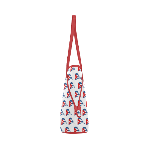 Cuban Flapping Flags Clover Canvas Tote Bag (Model 1661)