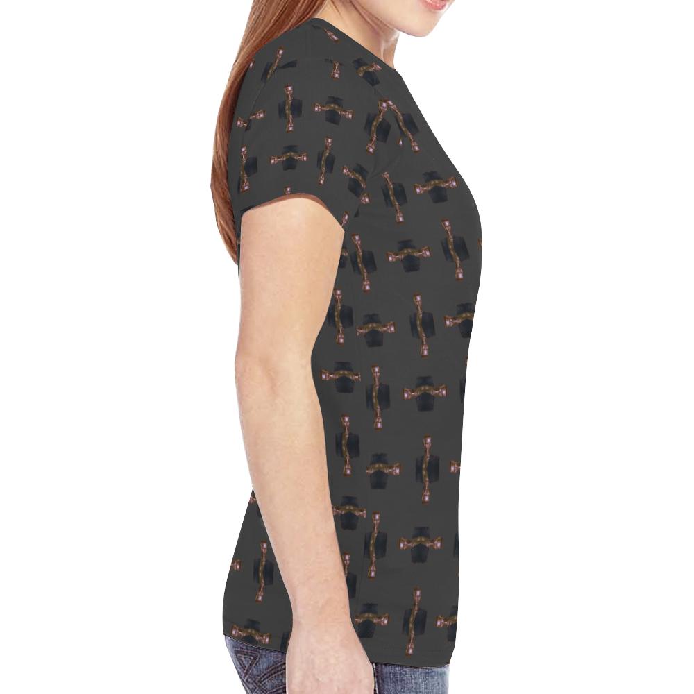 grace trans New All Over Print T-shirt for Women (Model T45)