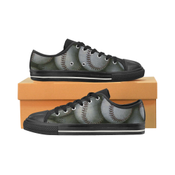 Baseball Lowtop Women's Classic Canvas Shoes (Model 018)