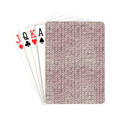 """Knitted Wool pink light Playing Cards 2.5""""x3.5"""""""