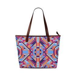 Modern Geometric Pattern Shoulder Tote Bag (Model 1646)