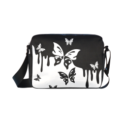 Animals Nature - Splashes Tattoos with Butterflies Classic Cross-body Nylon Bags (Model 1632)