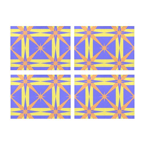 geometric design Placemat 14'' x 19'' (Four Pieces)