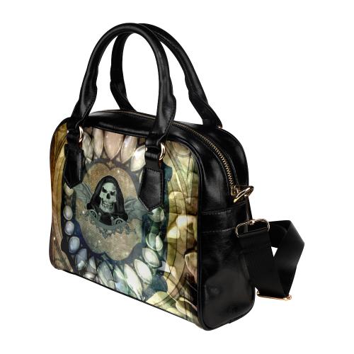 Awesome scary skull Shoulder Handbag (Model 1634)