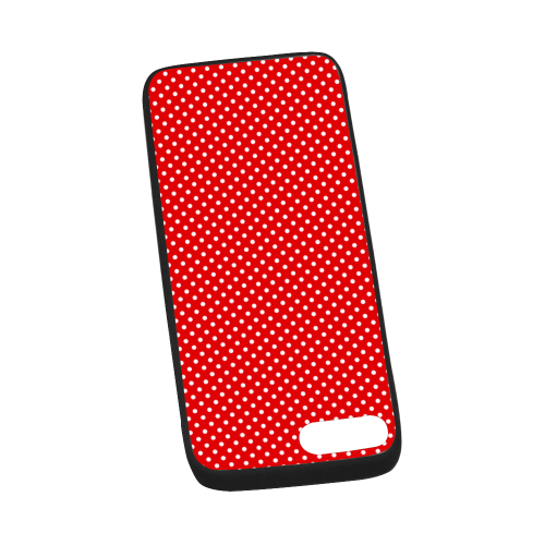 "Red polka dots Rubber Case for iPhone 7 plus (5.5"")"