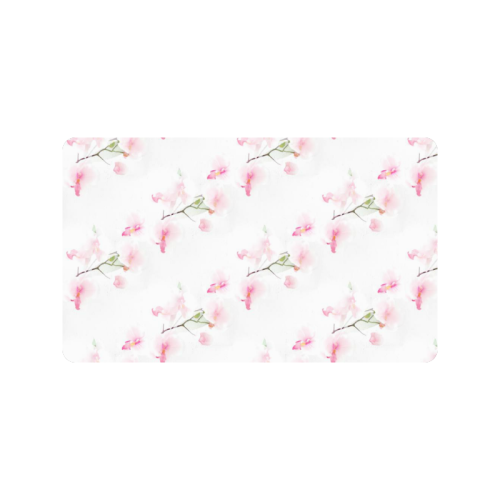 """Pattern Orchidées Doormat 30""""x18"""""""