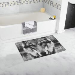 Wolf Animal Nature Bath Rug 16''x 28''