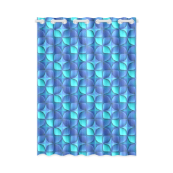 """Blue shades abstract New Window Curtain 52"""" x 72""""(One Piece)"""