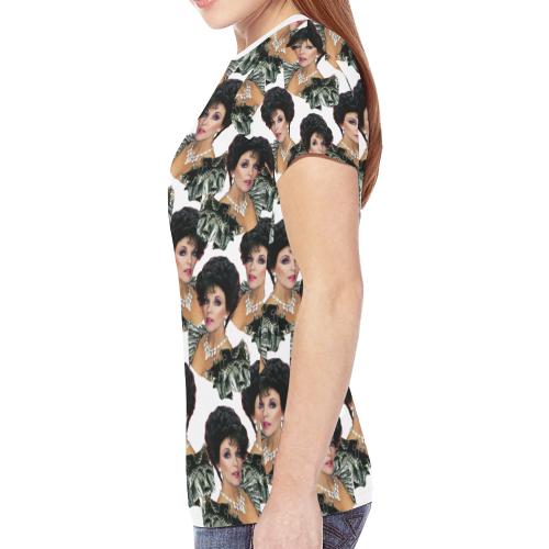 joan x 4 dbl New All Over Print T-shirt for Women (Model T45)