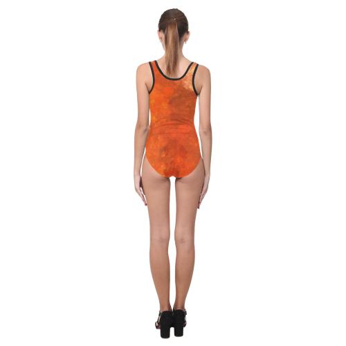 Orange Soup Vest One Piece Swimsuit (Model S04)